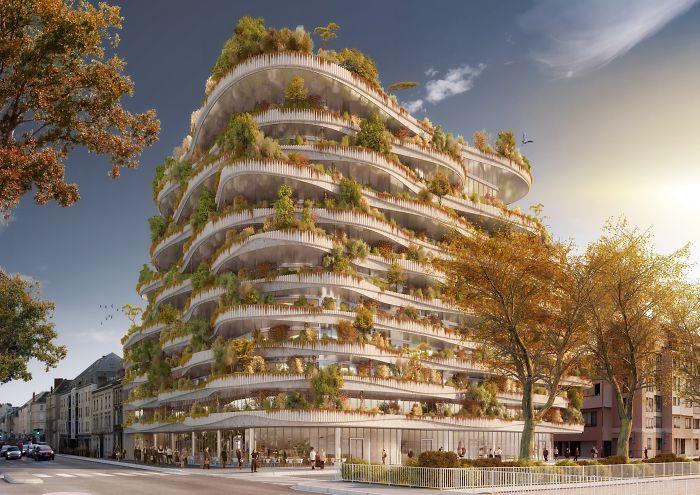 Millennial Vertical Forest By Vincent Callebaut