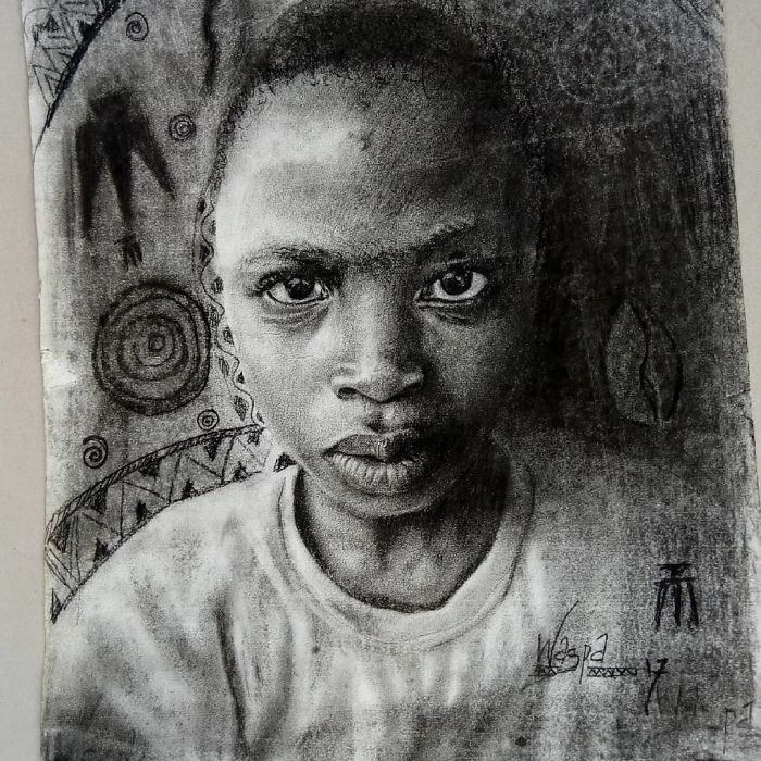 11 year old kid from nigeria creates hyperrealistic drawings and