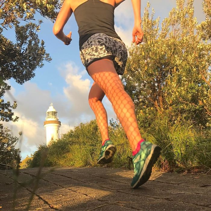 Made It To The Lighthouse At Byron Bay And The Most Easterly Point In Australia. Maybe Fishnet Stockings Should Be A New Running Trend