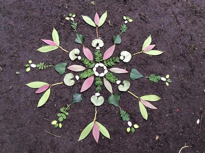 I Create Mandalas From Things I Find In Nature As A Way To