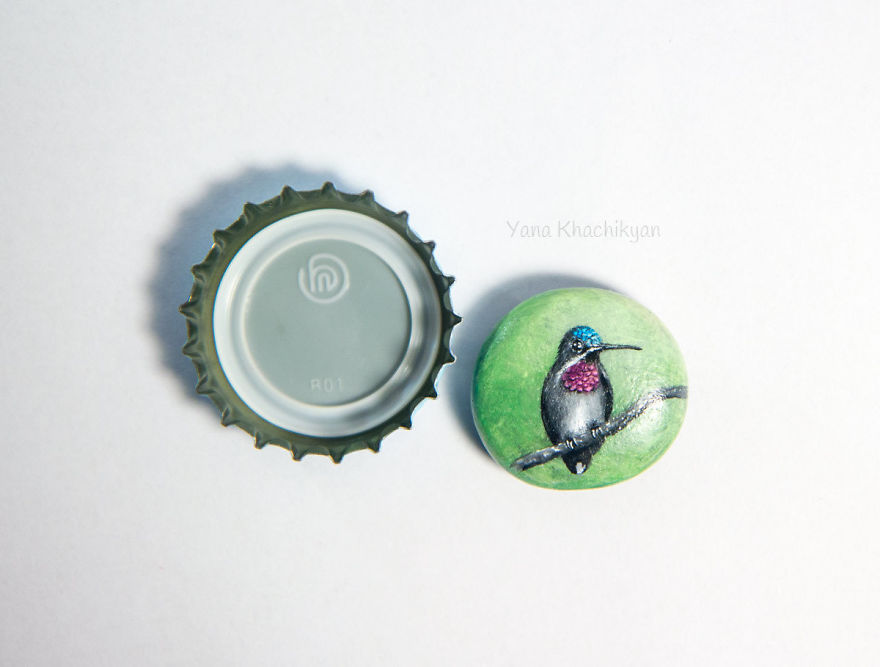 I Create Miniature Paintings On Stones And Other Surfaces