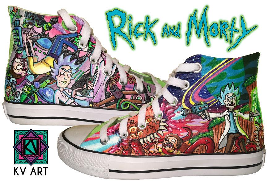 3156e4f86e3 I Paint This Custom Rick   Morty Converse
