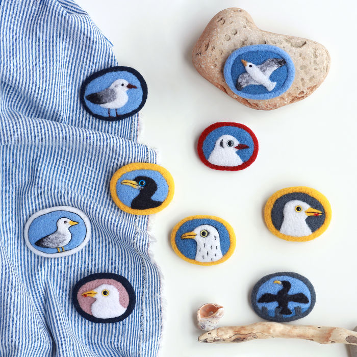 Brooches With Greetings From Baltic Sea