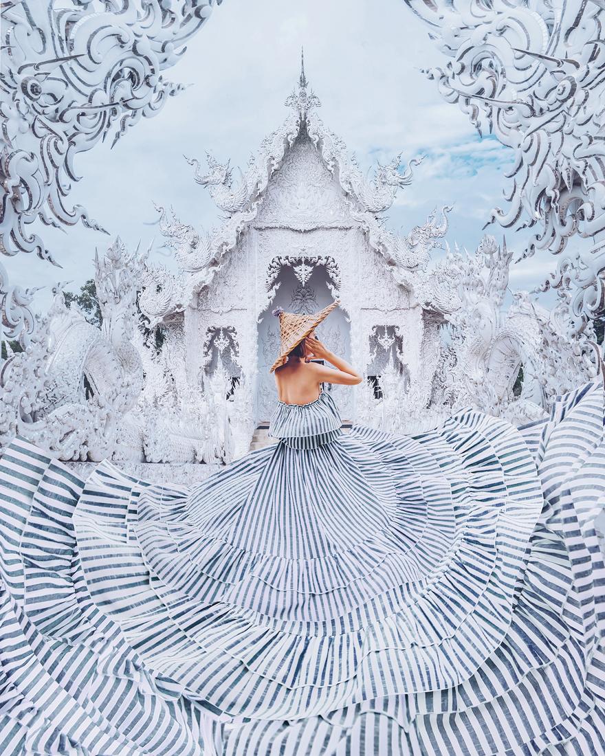 White Temple, Chiang Rai, Thailand. Model: Kristina