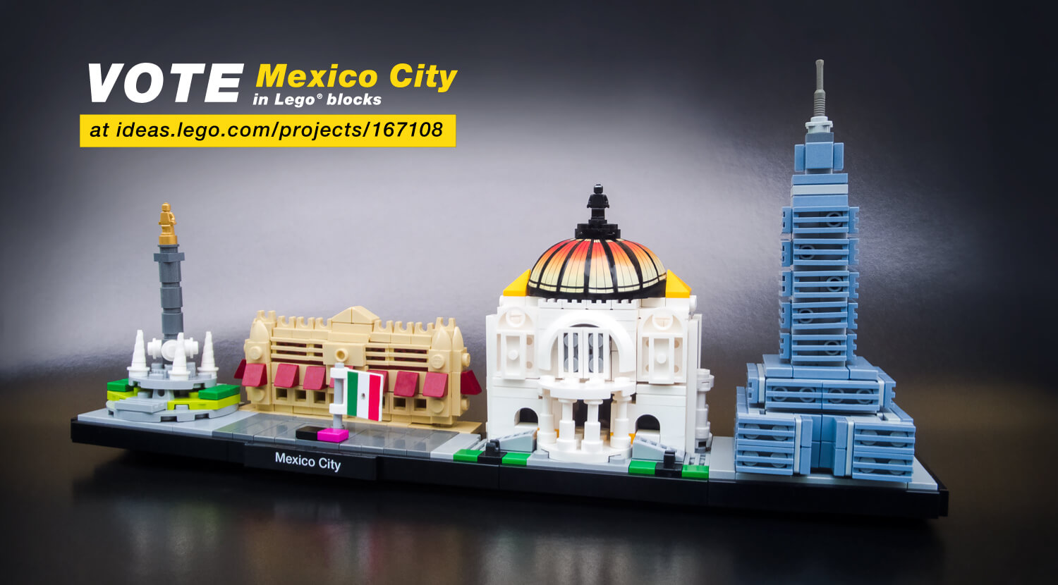 Lego Mexico City Created By Fan About To Reach 10k Votes And Could Soon Become An Official Lego | Bored Panda