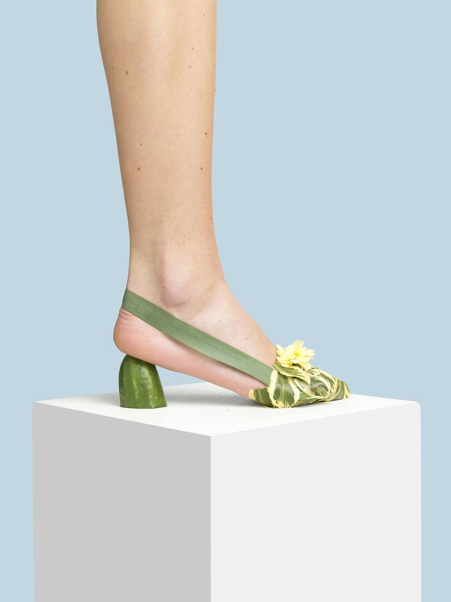 The Organic Slingback Kitten Heel