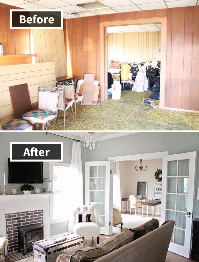 Những hình ảnh trước và sau khi phòng cũ được phù phép thành phòng mới khiến bạn không thể tin vào mắt mình - Ảnh 6.