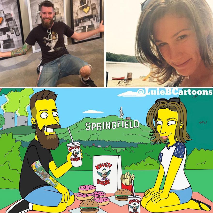 Ordinary People As Simpsons