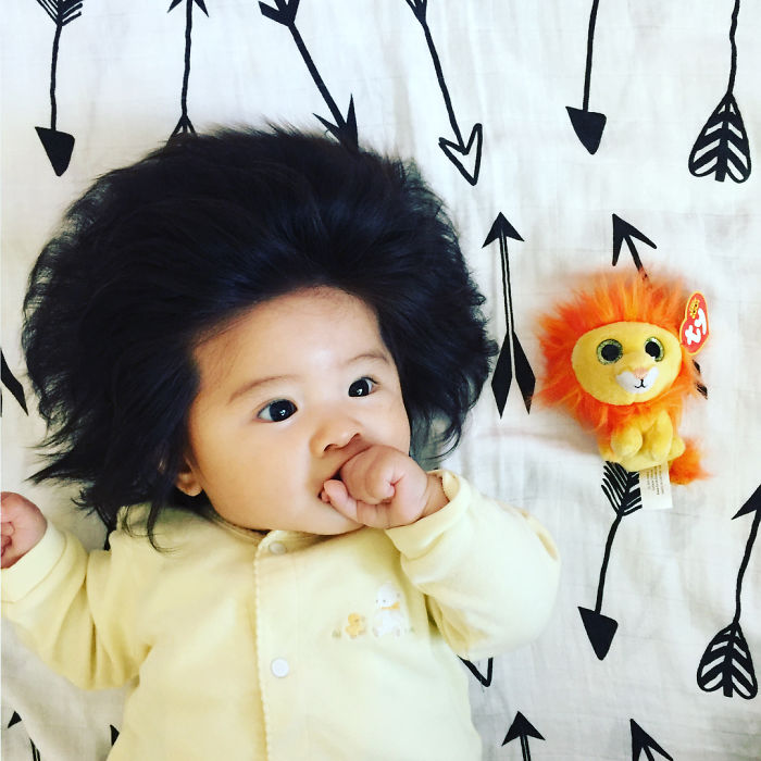 This Girl Is Only Six Months Old, But Her Hair Is So Amazing It Gained Her 70,000 Instagram Followers