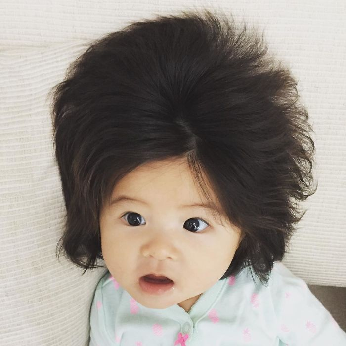 This Girl Is Only Six Months Old But Her Hair Is So Amazing It
