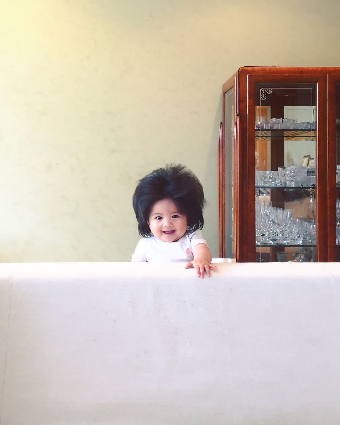 This Girl Is Only Six Months Old But Her Hair Is So