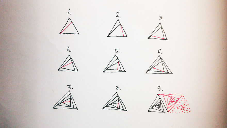 optical illusion patterns drawing triangles rectangles these triangle pattern easily bored panda
