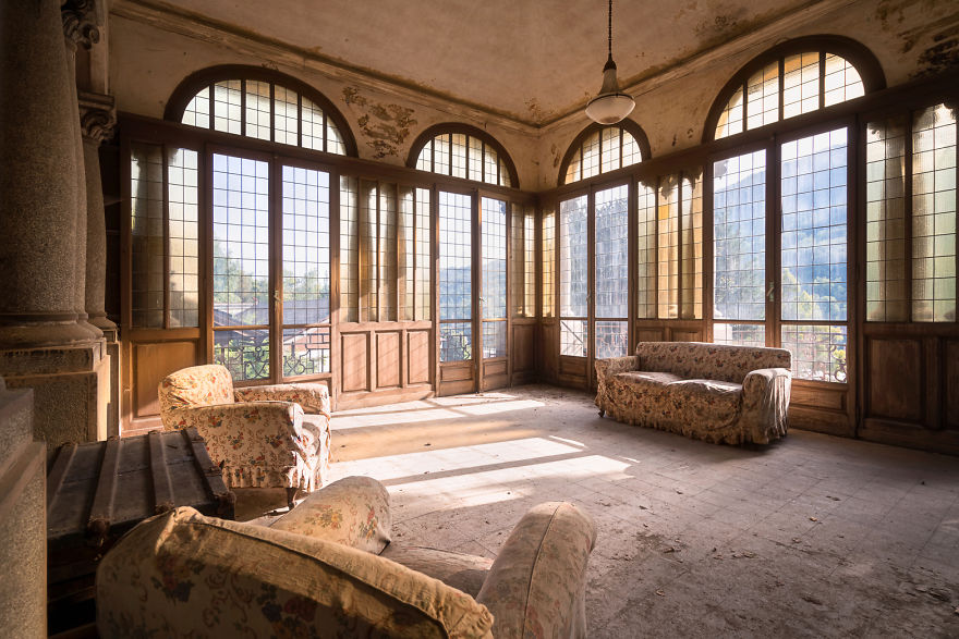 Amazing Views From This Room In An Abandoned Villa