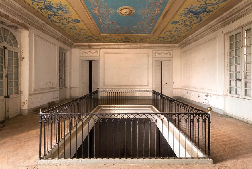 Top Floor Of An Abandoned Castle