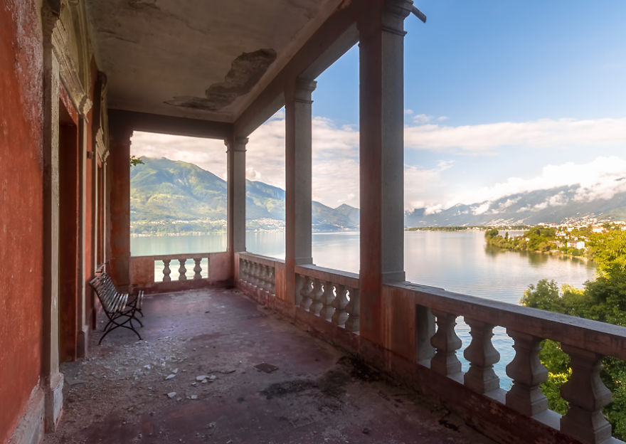 Balcony With A Perfect View In An Abandoned Villa