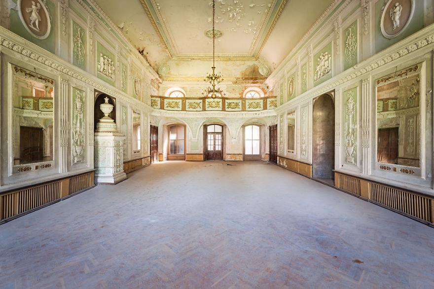 Ballroom In An Abandoned Castle