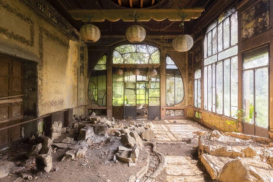 Greenhouse Of An Abandoned Villa
