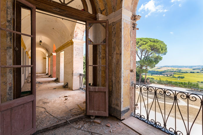 Views Over The Tuscan Hills From This Abandoned Villa