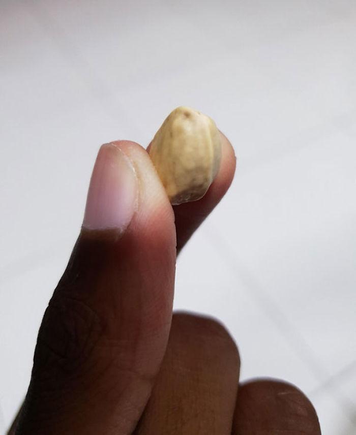 Los pistachos cerrados