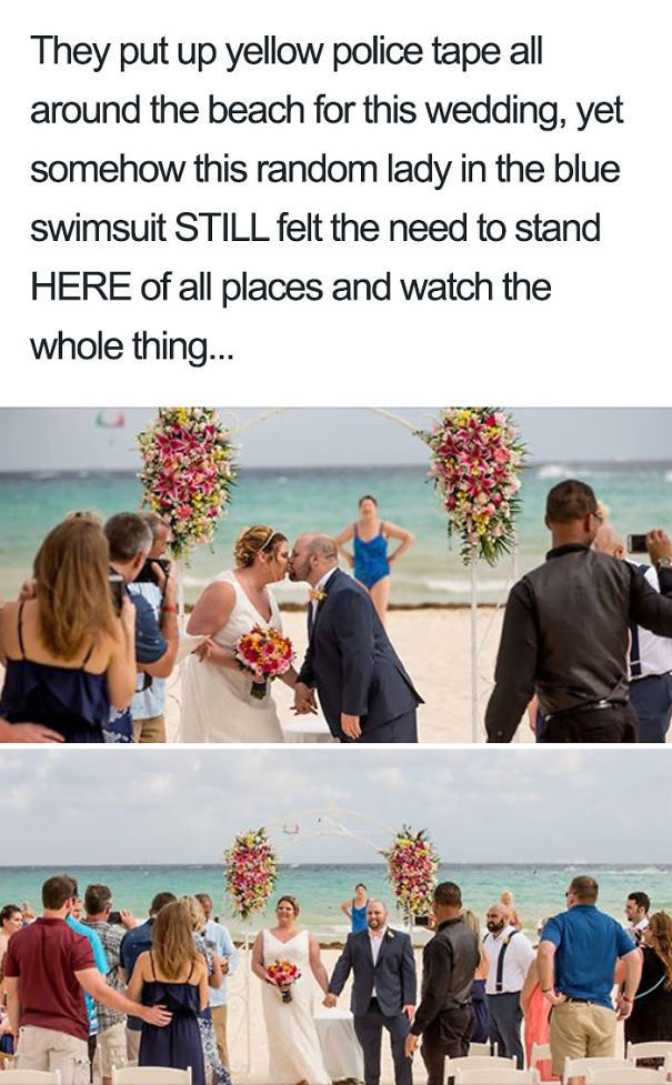 This Lady Watching A Beach Wedding