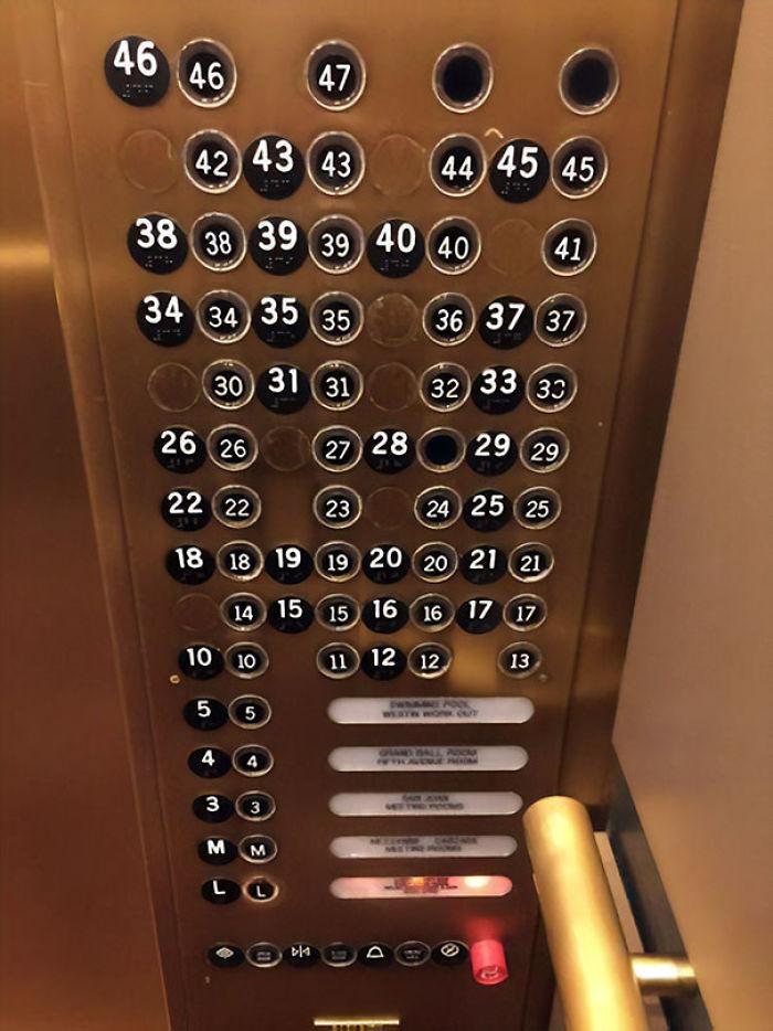 Los botones de este ascensor