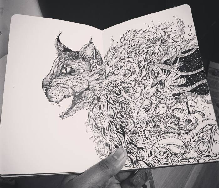 I Use Fineliners And A Sprinkle Of Imagination To Create These Detailed Drawings