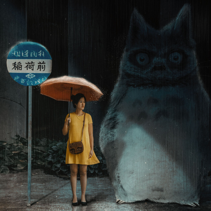 I Combined Photos To Recreate Scenes From Ghibli Studio