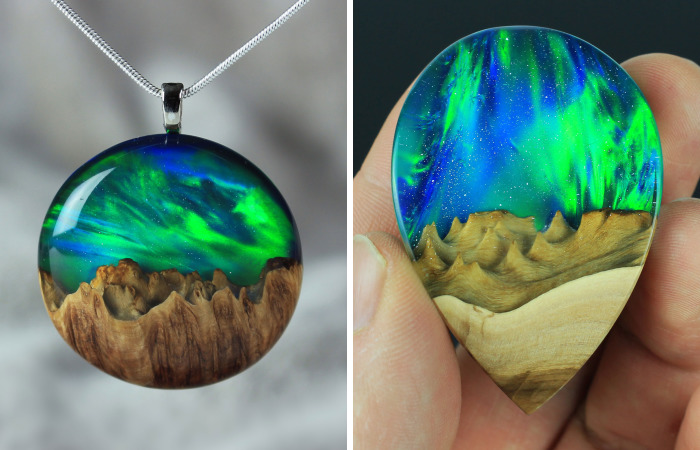 I Combine Wood With Opal And Resin To Create One-Of-A-Kind Handmade Jewelry