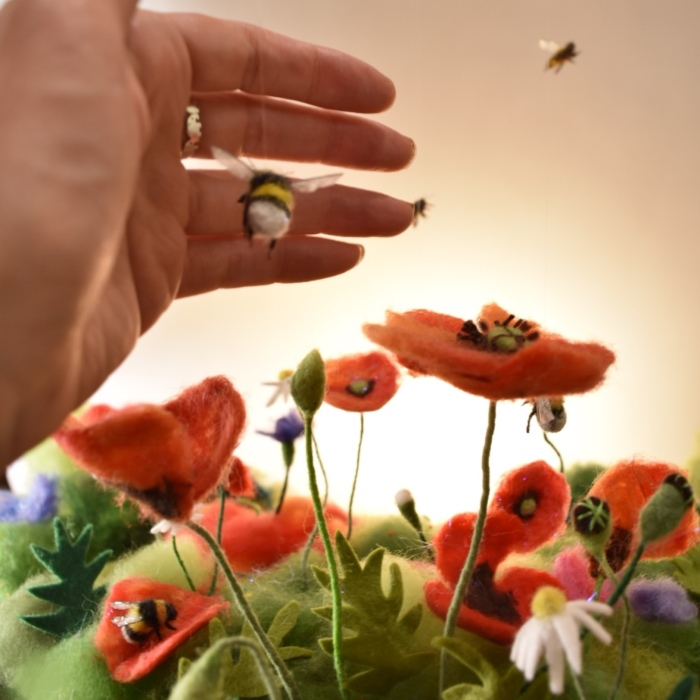 Mother Of Two Builds Beautiful 3d Felted Scenes To Produce Dreamy Digital Illustrations