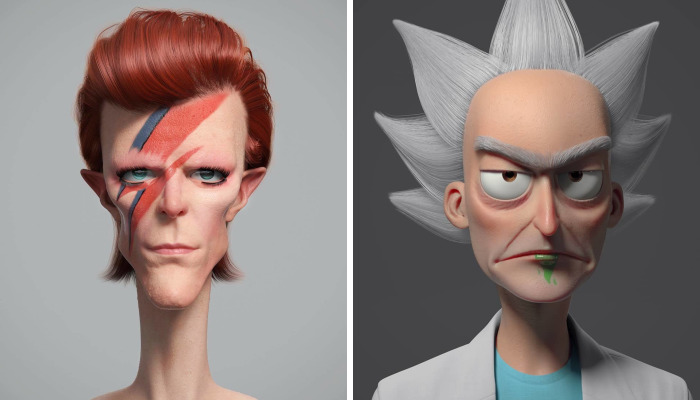 Artist Who Has Worked With DreamWorks Turns Famous People And Characters Into Cartoons