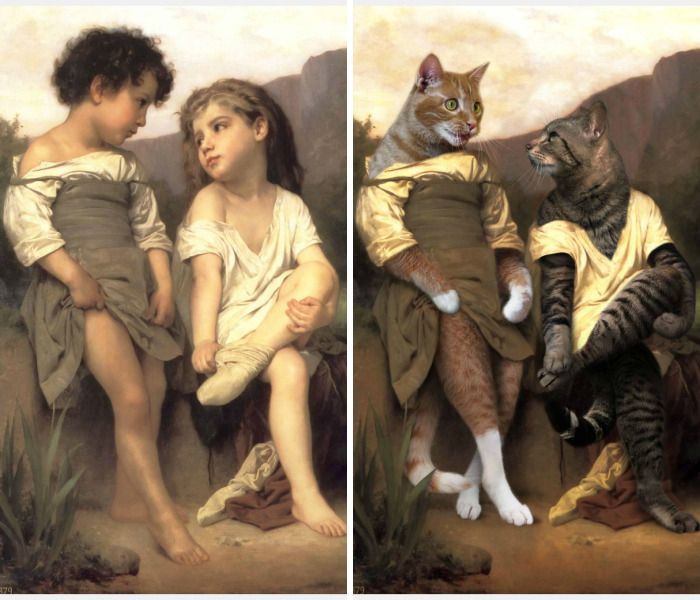Artists Replace People With Animals In Famous Paintings And The Result Was Better Than The Original