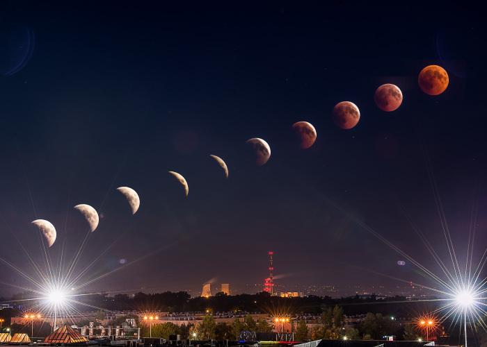 Moon Eclipse 27th July 2018, Kraków, Poland