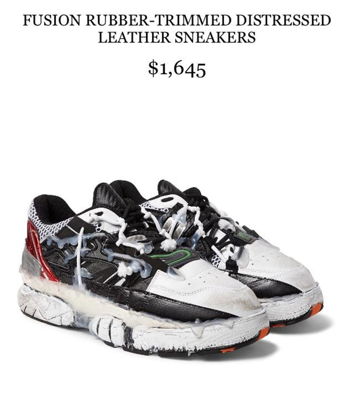 These Shoes Look Like Someone Busted A Nut All Over Them