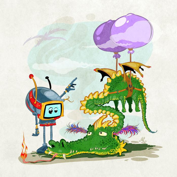 "I Drew The ""Dragon Rider"" Illustration"