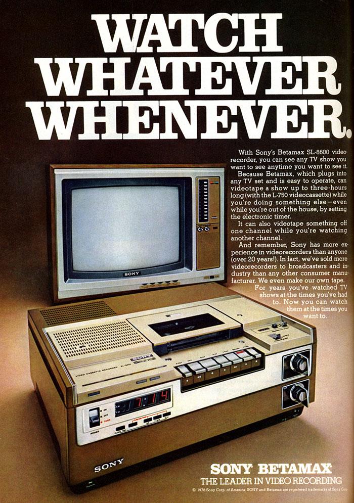 Sony Betamax, 1975