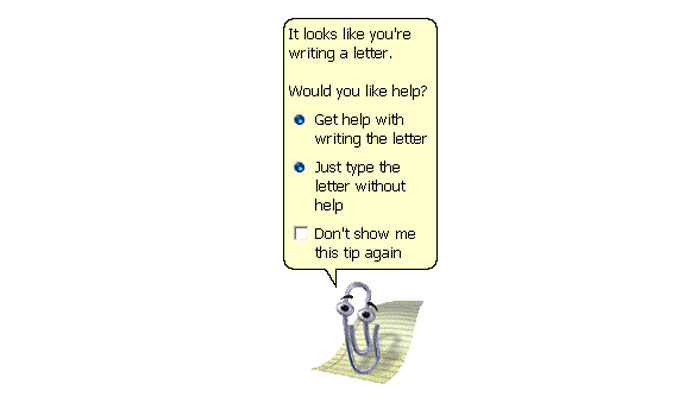 Office Assistant Clippy, Microsoft, 1990s