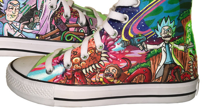 Paint This Custom Rick \u0026 Morty Converse