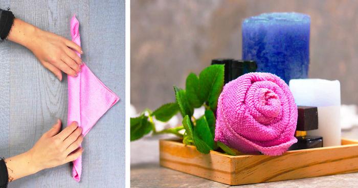 How To Diy 5-Star Hotel Towel Art, Folding And More Bathroom Ideas