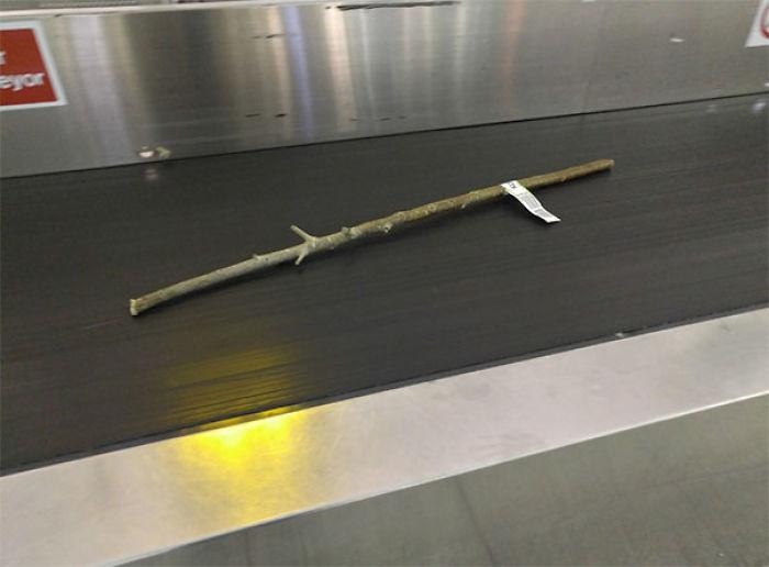 Alguien ha metido un palo en el equipaje