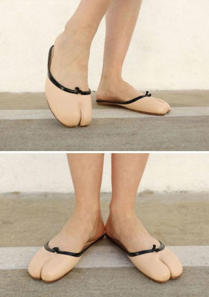 Nunca pensé que vería zapatos que parecieran pies de camello, pero...