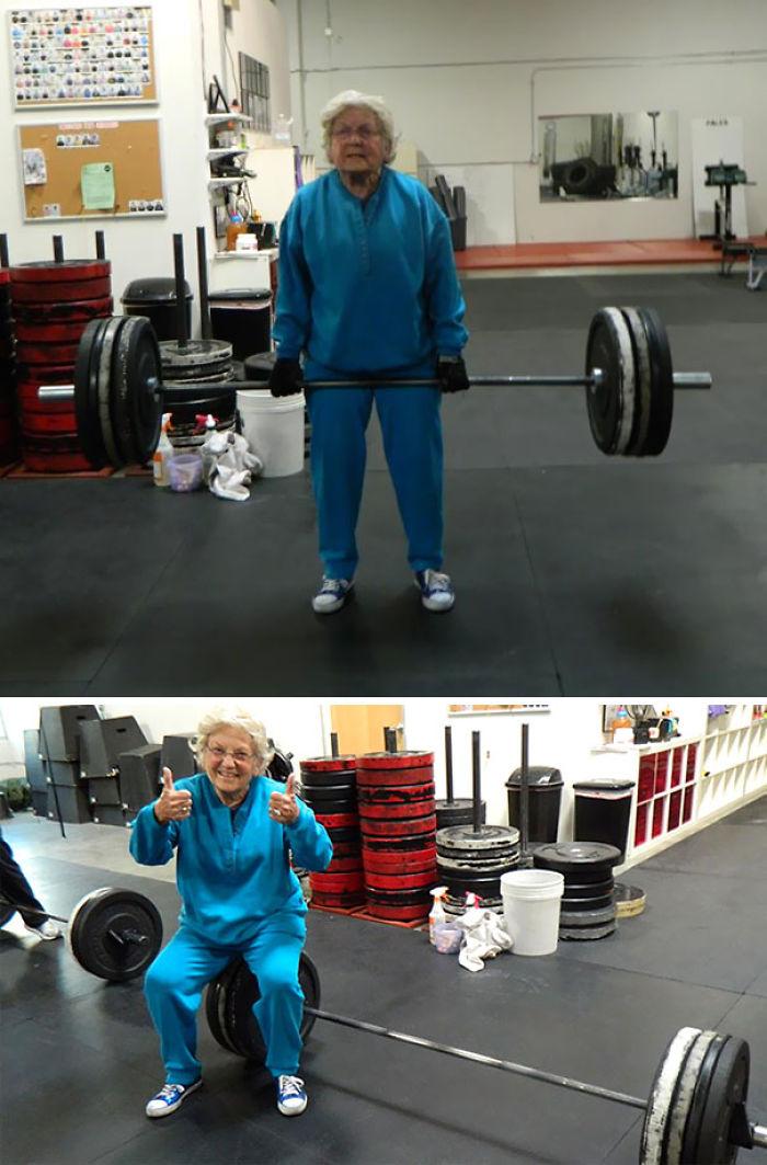 Esta mujer de 82 años es más fuerte que tú