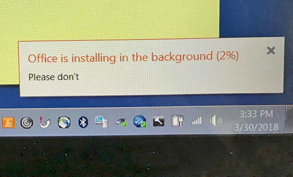 Even Office Urges Not To Be Installed
