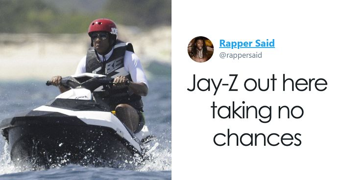 Jay-Z's Vacation Photo Turns Into The Best Meme Of This