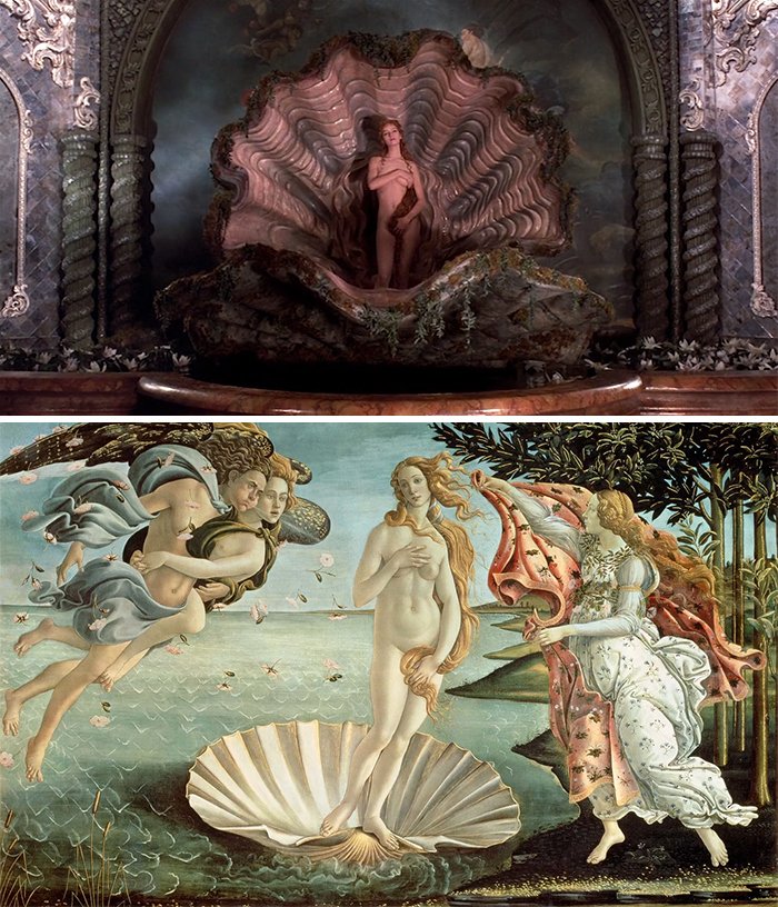 Movie: The Adventures Of Baron Munchausen (1988) Vs. Painting: The Birth Of Venus (1840-1846)