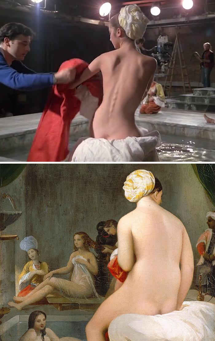 Movie: Passion (1982) vs. Painting: La petite baigneuse – Intérieur de harem (1838)