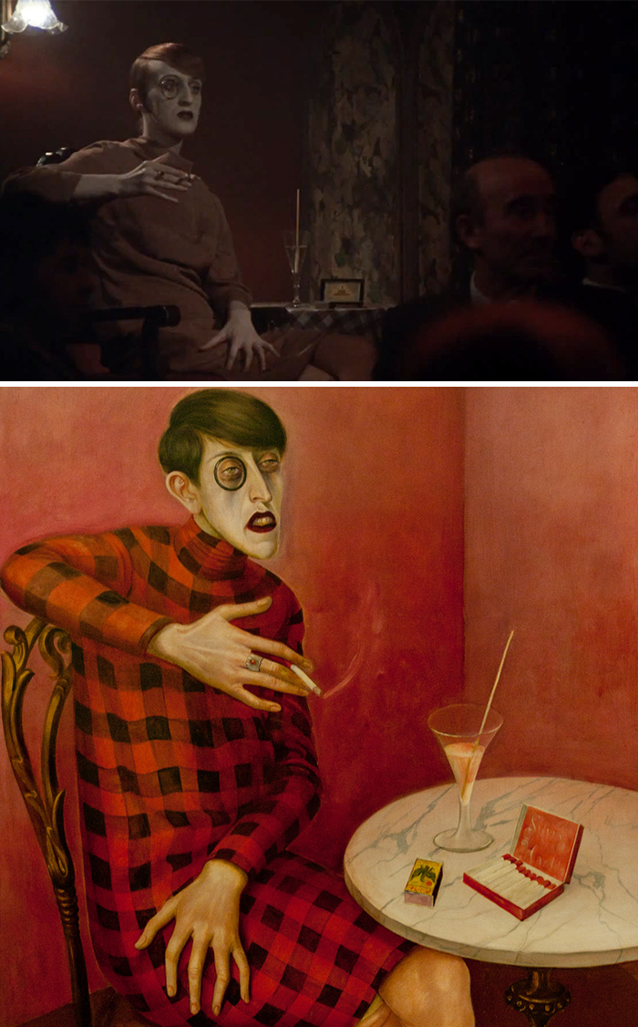 Movie: Cabaret (1972) vs. Painting: Portrait of the Journalist Sylvia von Harden