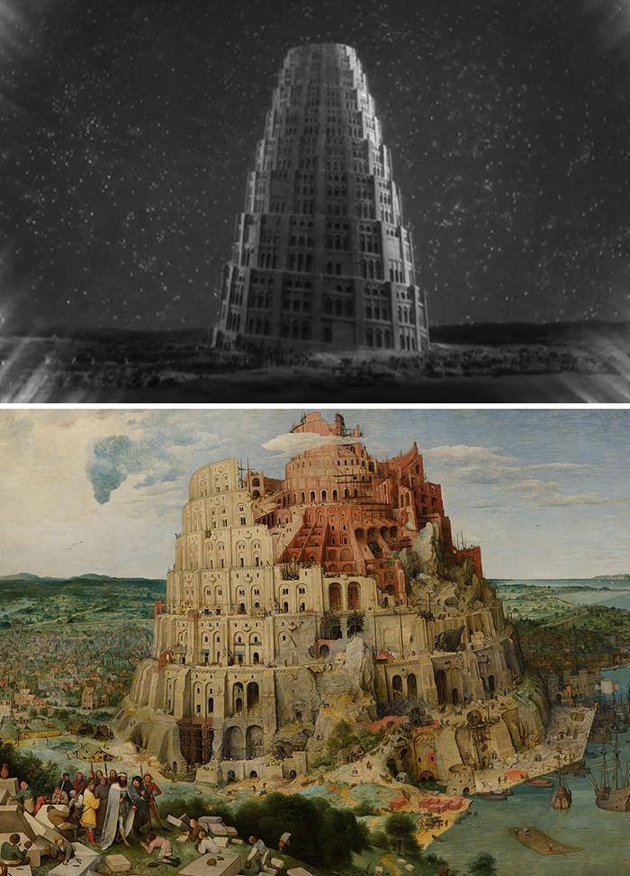 Movie: Metropolis (1927) vs. Painting: The Tower Of Babel (1563)