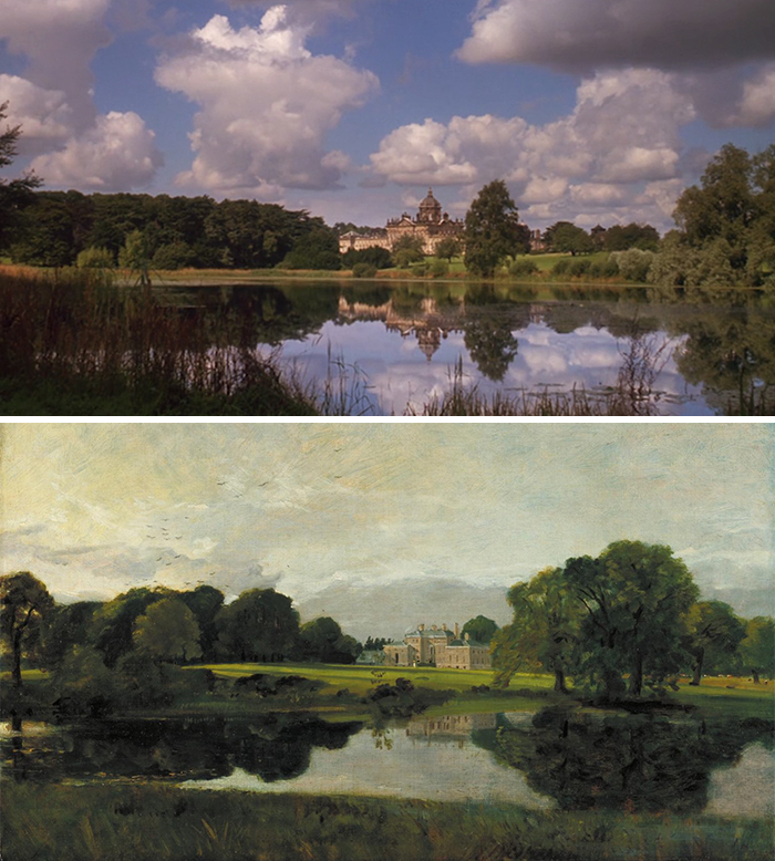 Movie: Barry London (1975) vs. Painting: Malvern Hall, Warwickshire (1809)