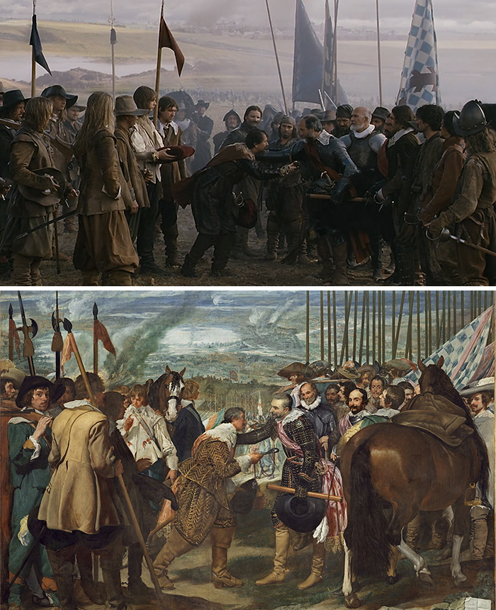 Movie: Alatriste (2006) vs. Painting: La Rendición De Breda (1634-1635)