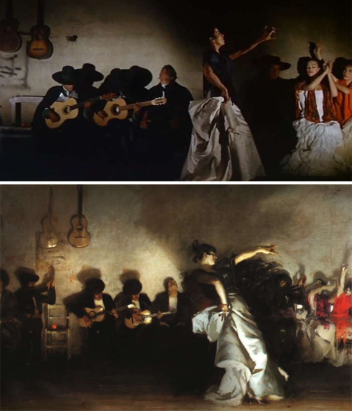 Movie: The Alamo (1960) vs. Painting: El Jaleo (1882)